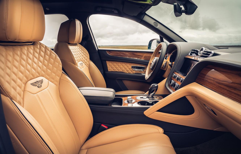 Фото обои Bentley, салон, 2020, Worldwide, Bentayga V8