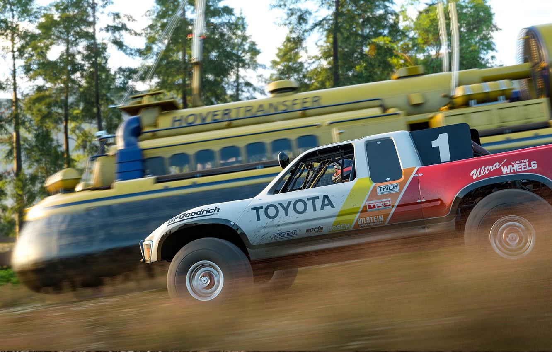 Фото обои car, Train, Forza Horizon, Hovercraft, Forza Horizon 4
