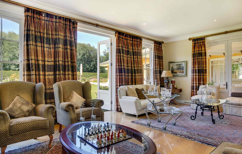 Фото обои вилла, интерьер, гостиная
