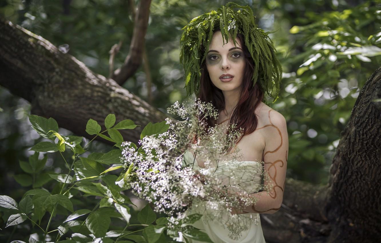 Фото обои девушка, природа, колдунья