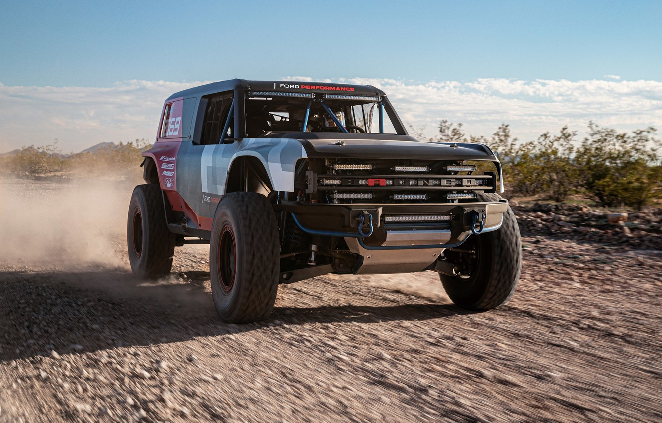 Фото обои Ford, Форд, мотоспорт, Baja 1000, racing car, Bronco, motorsports, Баха 1000, Ford Bronco R race …