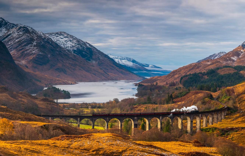 Обои scotland, поезд, forth bridge, вагоны. Разное foto 7