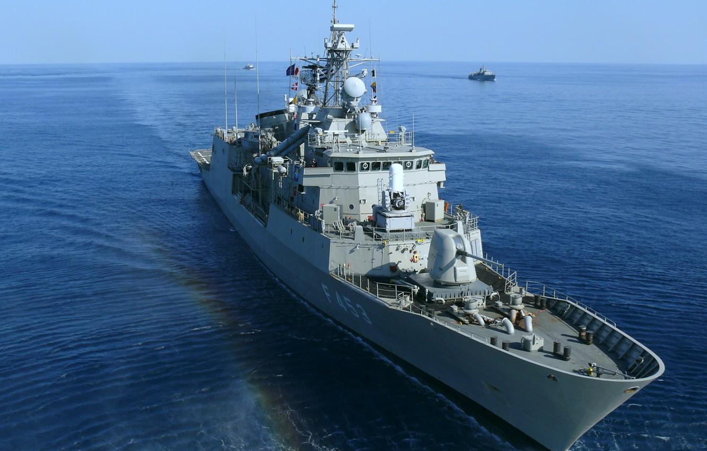 Фото обои фрегат, ВМС Греции, Спетсе