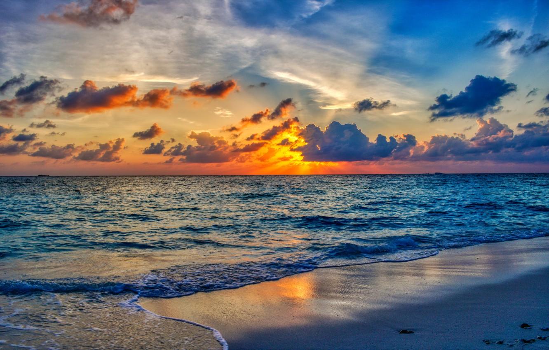 Обои волны, горизонт. Природа foto 9