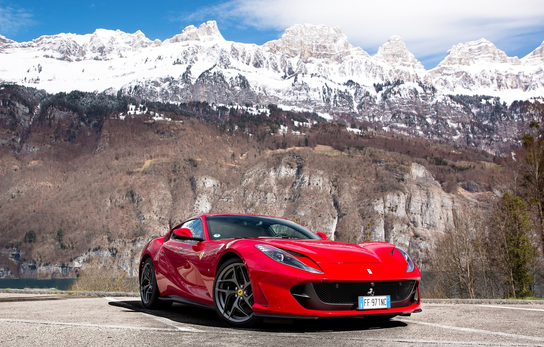 Фото обои Ferrari, mountain, Superfast, 812