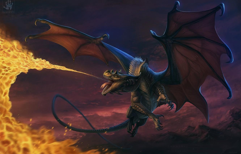 Драконы дышат огнем картинки