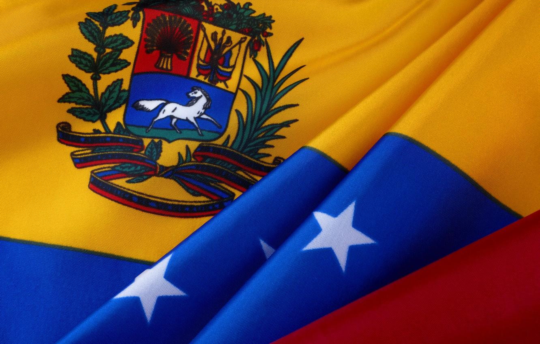 Фото обои звёзды, флаг, герб, stars, Венесуэла, fon, flag, Venezuela, venezuela, coat of arms, венесуэла, venezuelan
