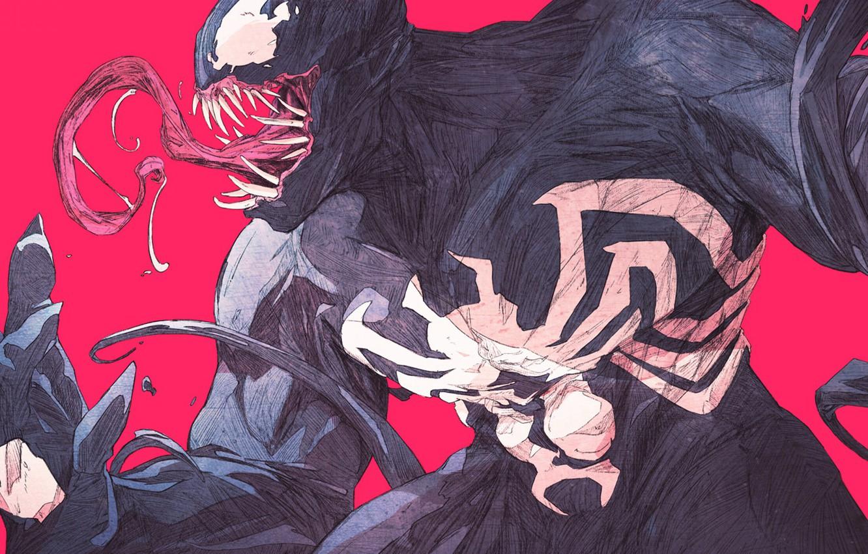 Фото обои язык, зубы, marvel, Веном, Venom, tongue, symbiont, teeth, симбиот, Eddie Brock, Эдди Брок, by chun …