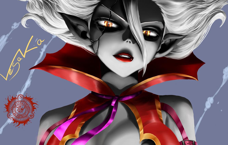 Фото обои взгляд, девушка, демон, маг, чародей, волшебник, Fairy Tail, mirajane