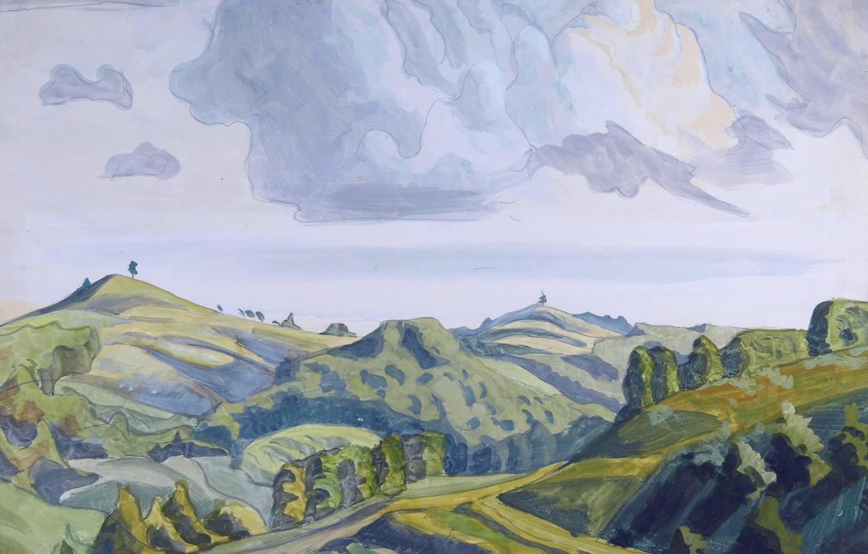 Фото обои Untitled, Charles Ephraim Burchfield, 1920s, Hilltops