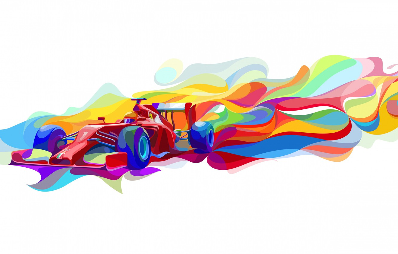 Фото обои краски, вектор, Формула 1