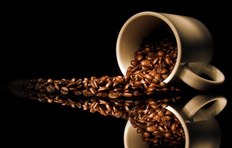 Фото обои macro, cups, coffe time, cafe seeds
