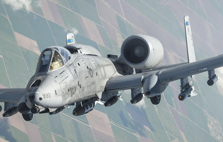 Обои thunderbolt ii, A-10, штурмовик. Авиация foto 10