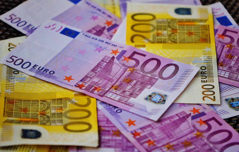 Фото обои деньги, размытие, евро, валюта, купюры, euro, currency, banknotes