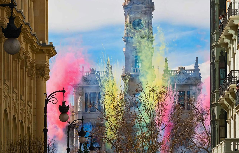 Фото обои Испания, Валенсия, Фальяс