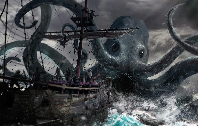 картинки пираты карибского моря кракен морской тематики