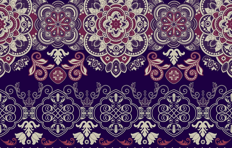 Фото обои красный, узор, текстура, орнамент, синий фон