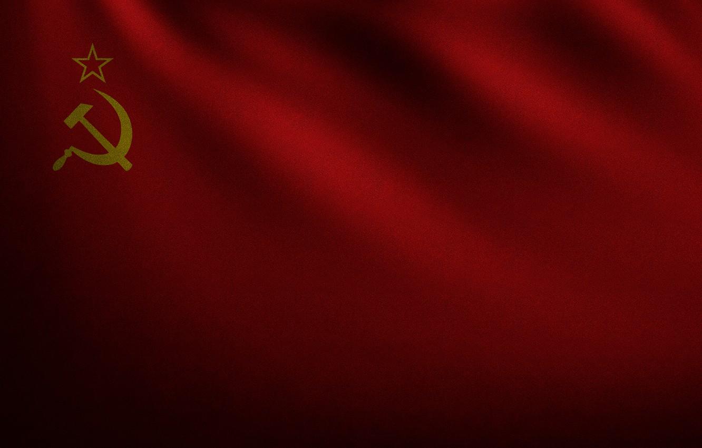 Фото обои красный, флаг, ссср, серп и молот, развевающийся, флаг ссср