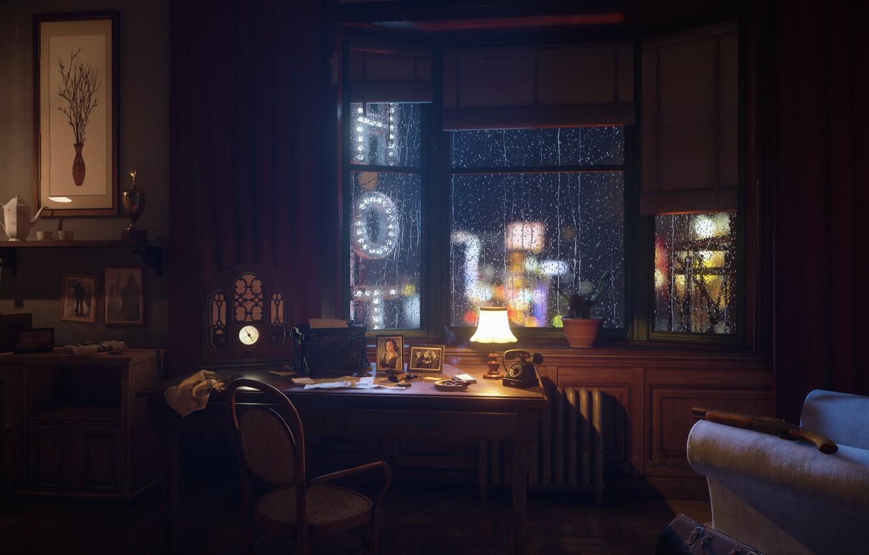 Фото обои ночь, city, неон, день, вывески, ночной город, слякоть, the city of lost heaven, Mafia, Hangar …