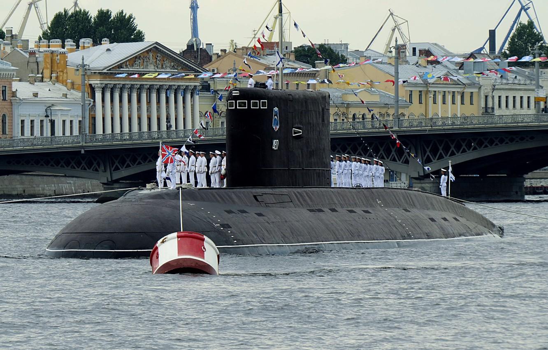 Фото обои лодка, парад, подводная, дизельная