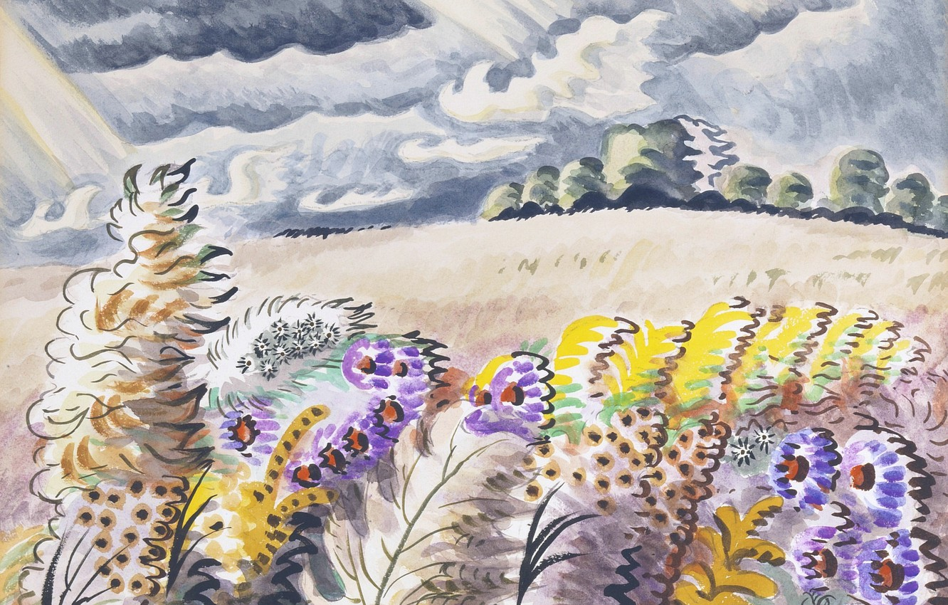 Фото обои 1955, Charles Ephraim Burchfield, September Wind
