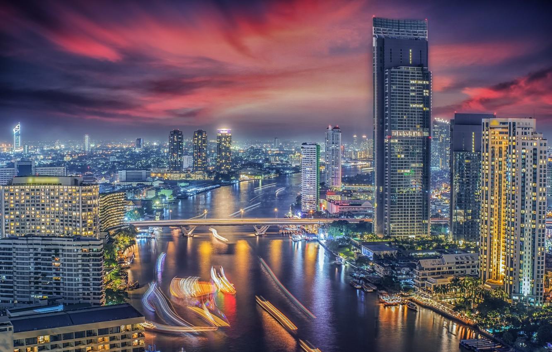 Фото обои город, здания, Тайланд, Бангкок