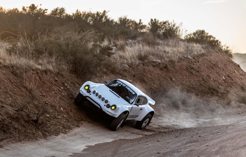 Фото обои растительность, 911, Porsche, обочина, 964, 2019, 911 Baja Prototype, Russell Built Fabrication