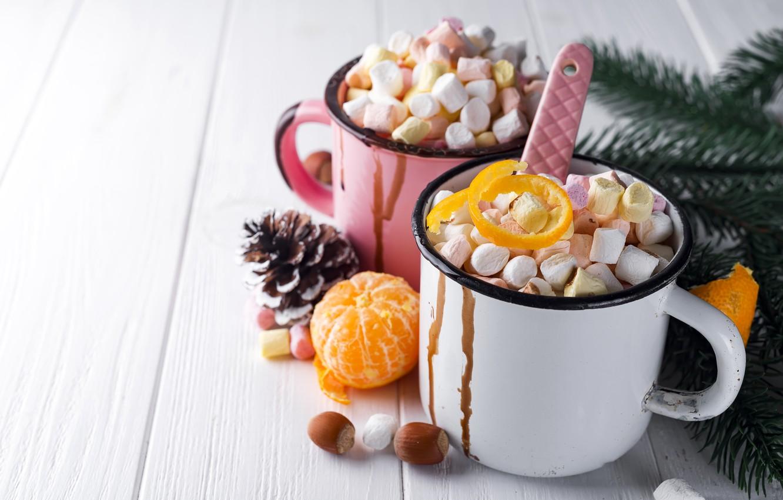 Фото обои украшения, Новый Год, Рождество, кружка, Christmas, cup, New Year, какао, decoration, xmas, Merry, fir tree, …