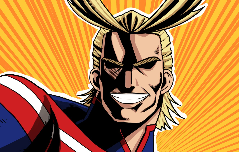 Фото обои герой, Всемогущий, My Hero Academia, Boku No Hero Academia, Моя Геройская Академия