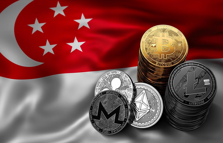 Фото обои размытие, флаг, сингапур, singapore, fon, flag, bitcoin, ripple, btc, litecoin, monero, ethereum