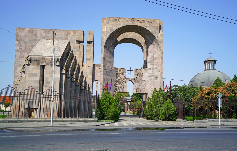 Фото обои Забор, Ворота, Храм, Армения, Armavir
