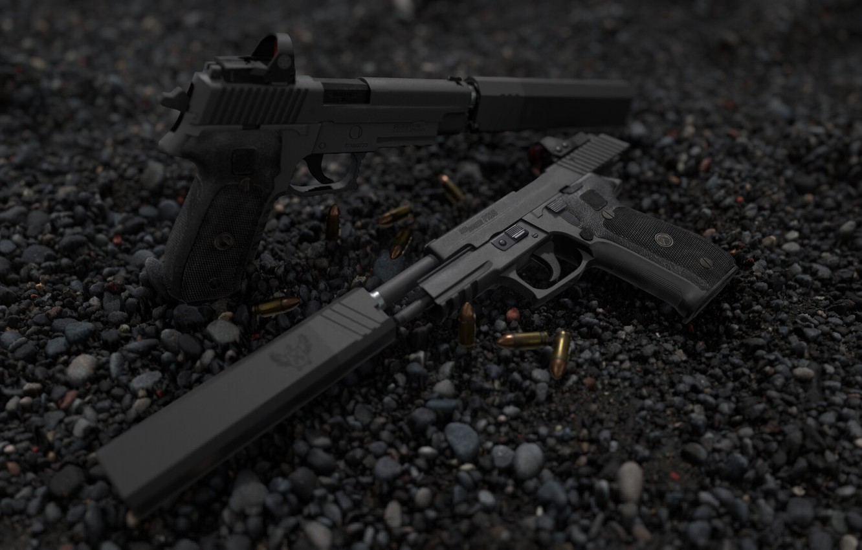Фото обои рендеринг, пистолет, оружие, pistol, weapon, render, custom, рендер, Legion, 3d art, sig Legion, sig, сиг, …