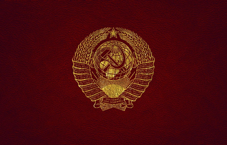 Фото обои кожа, ссср, золотой, герб, красная, герб ссср