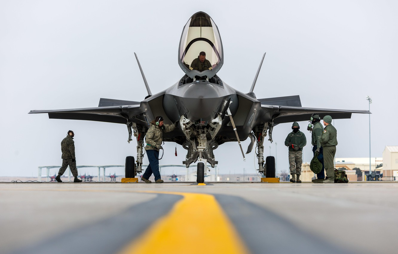 Фото обои Истребитель, USAF, F-35A Lightning II