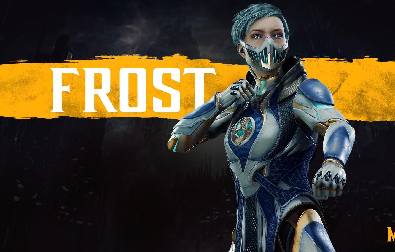 Фото обои девушка, girl, боец, киборг, Frost, cyborg, NetherRealm Studios, Mortal Kombat 11, Фрост, криомант, Смертельная Битва …