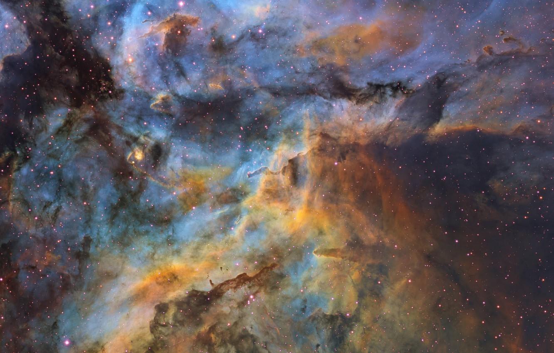 Фото обои звёзды, stars, созвездие Киля, dust clouds, пылевые облока, Ignacio Diaz Bobillo
