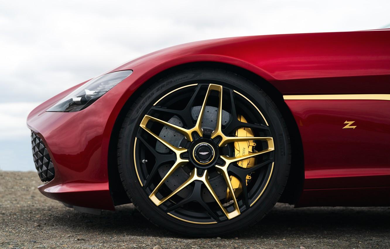 Фото обои красный, Aston Martin, купе, колесо, Zagato, 2020, V12 Twin-Turbo, DBS GT Zagato, 760 л.с.
