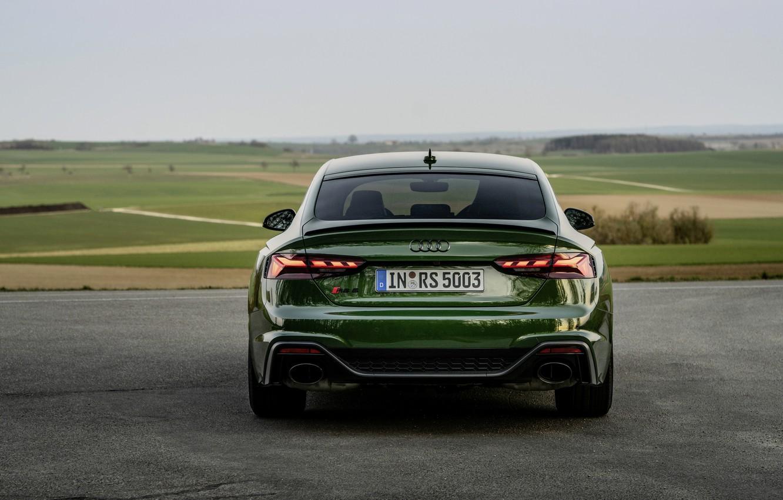 Фото обои Audi, вид сзади, RS 5, 2020, RS5 Sportback
