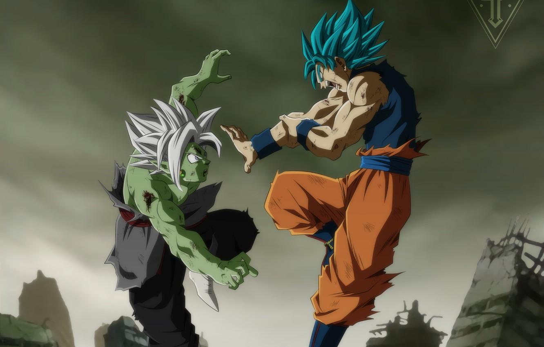 Фото обои бой, парни, сражение, Dragon Ball
