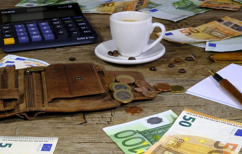 Фото обои деньги, евро, монеты