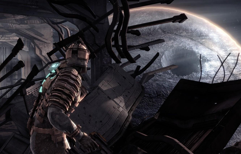 Фото обои кратер, Dead Space, Isaac Clarke, инженер Айзек Кларк