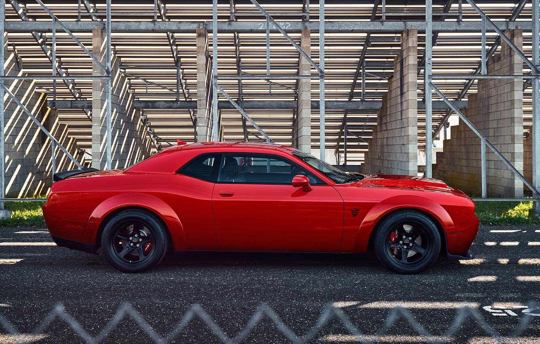 Фото обои Dodge Challenger, SRT Demon, Дрэгстер