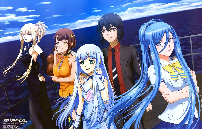 Фото обои Anime, Hyuuga, Takao, Kongou, Iona, Arpeggio of Blue Steel