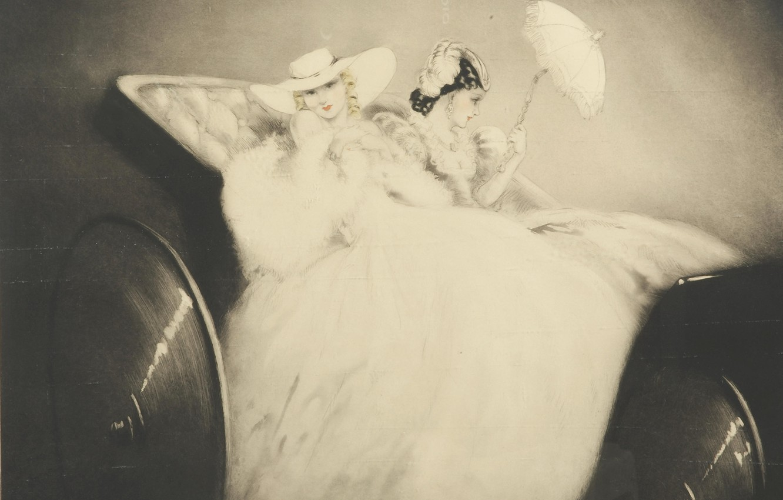 Фото обои 1938, Louis Icart, На Елисейских полях