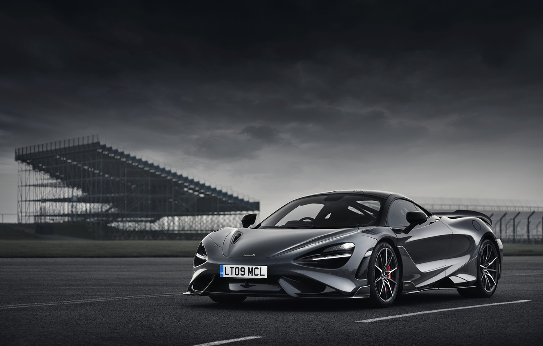 Фото обои пасмурно, McLaren, 2020, 765LT