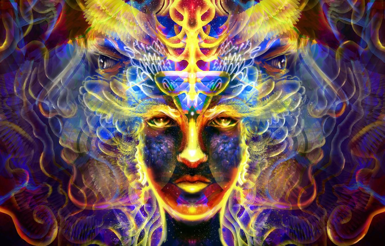Фото обои волны, взгляд, энергия, яркие краски, lights, огни, лица, waves, energy, look, faces, bright colors, просветление, …