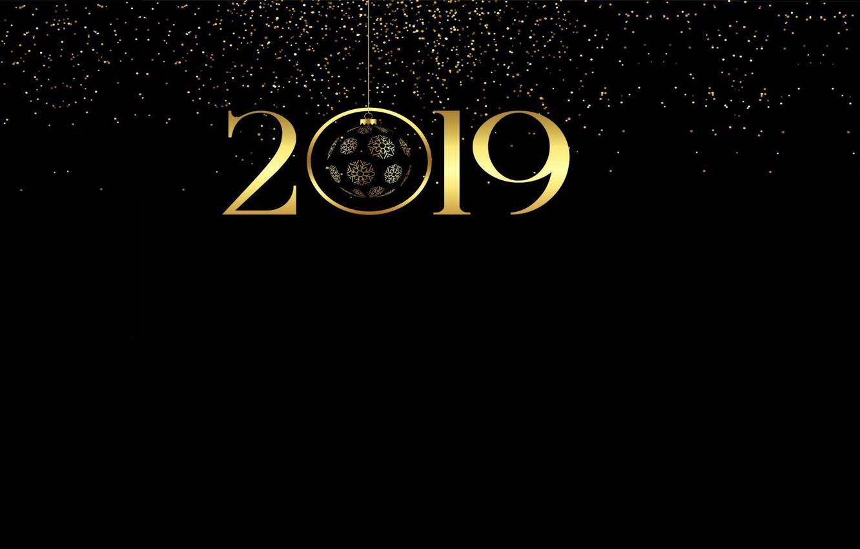 Фото обои огни, настроение, праздник, надпись, минимализм, Новый Год, арт, С новым годом!