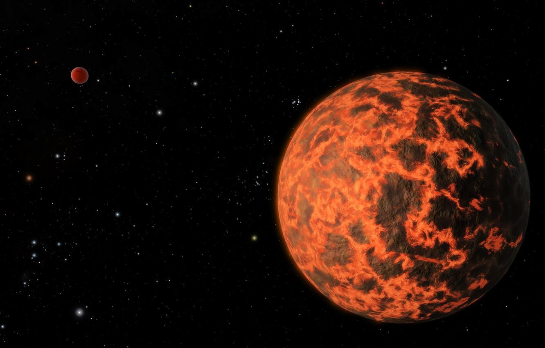 Фото обои пространство, планета, экзопланета