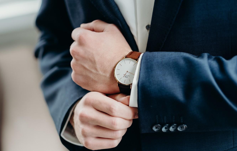 Фото обои стиль, часы, костюм, деловой стиль