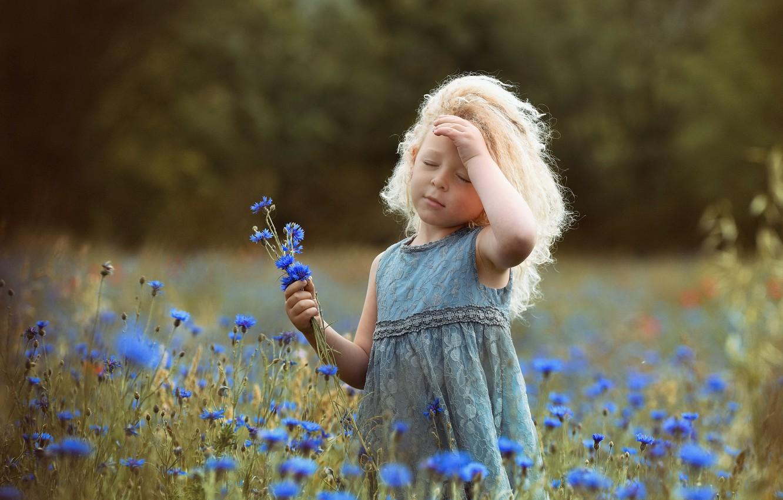 Фото обои лето, природа, девочка